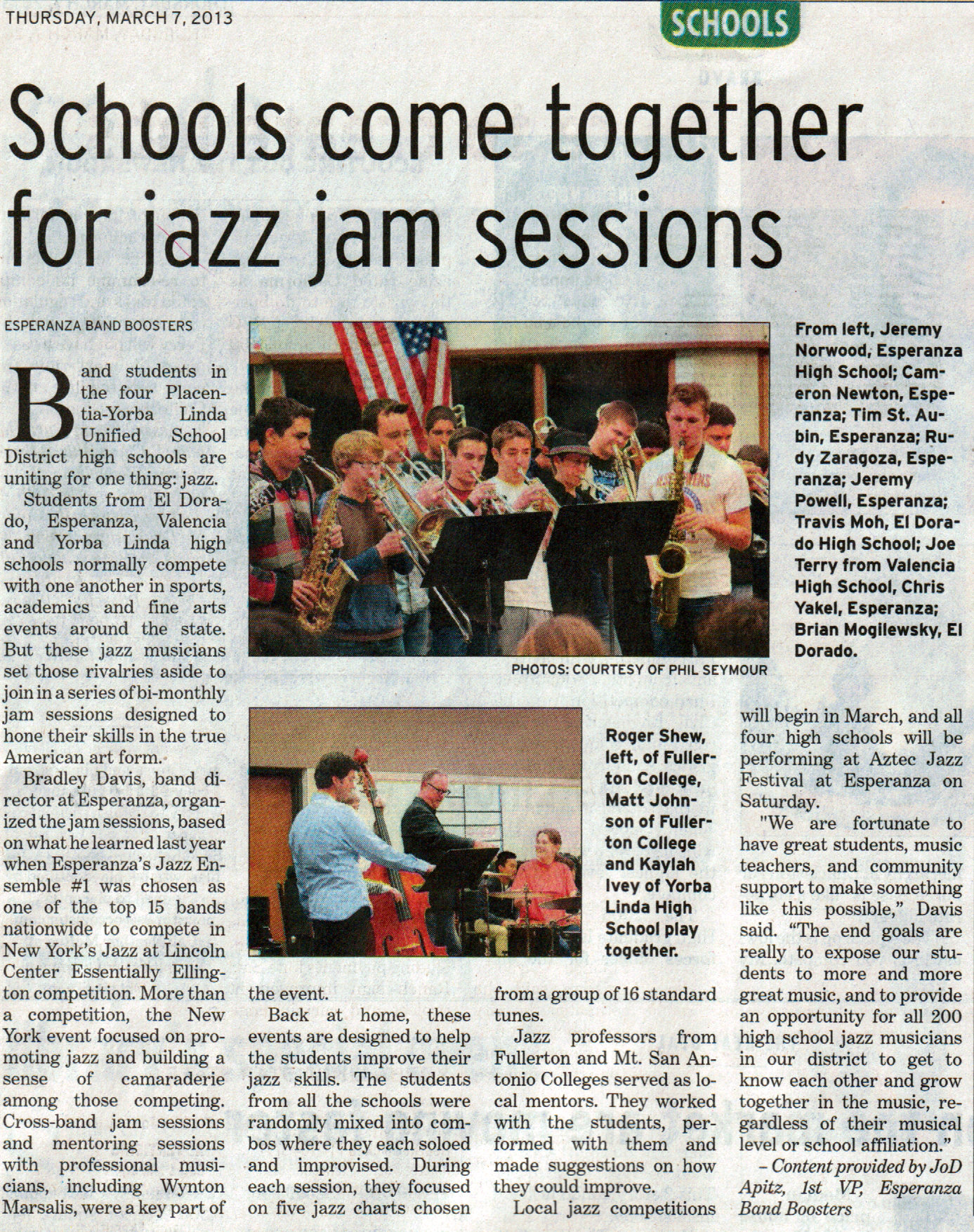 2013-03-07 Jazz Jam Session OCRegister